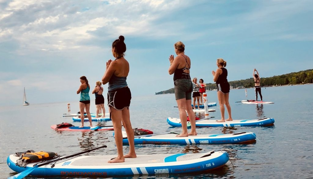 Stand Up Paddleboard Fitness Classes in Door County
